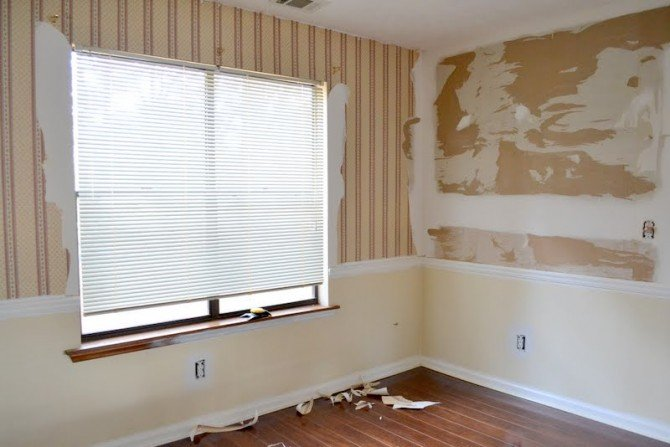dining room skim coat