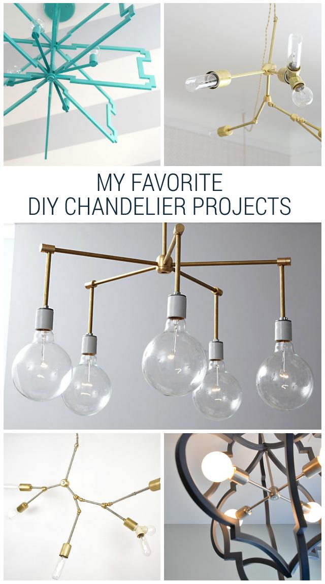 Cute favorite diy chandelier projects