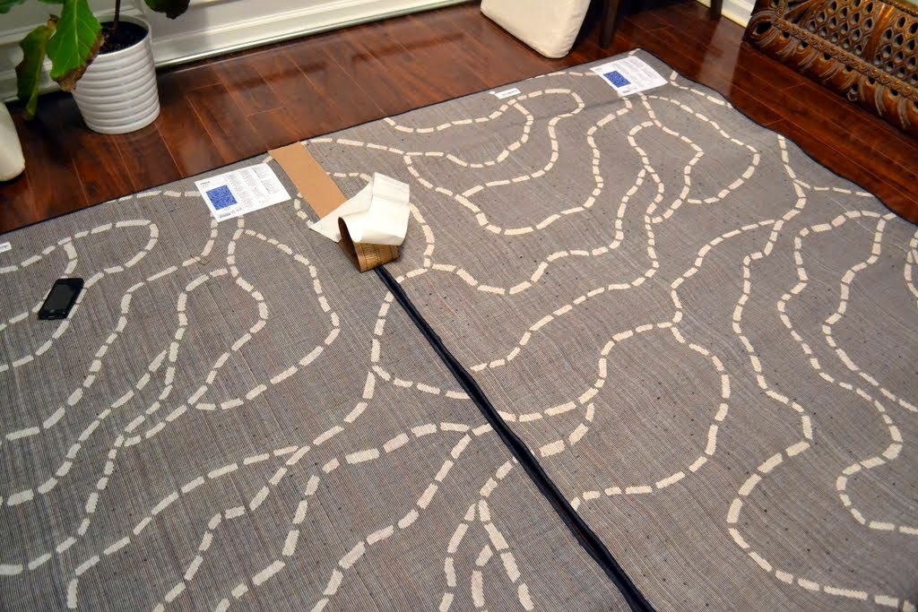 Join Both Rugs Along The Seam You Want To Tape It S Best Lay Out Completely And See If Corners Will Match Up Even Though Are Supposed