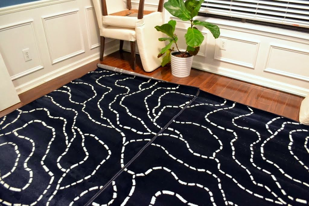 The Two Rugs I Used Ferle From Ikea Were 29 99 Each So When Adding Tape Into Cost Essentially Paid About 65 For My New Rug