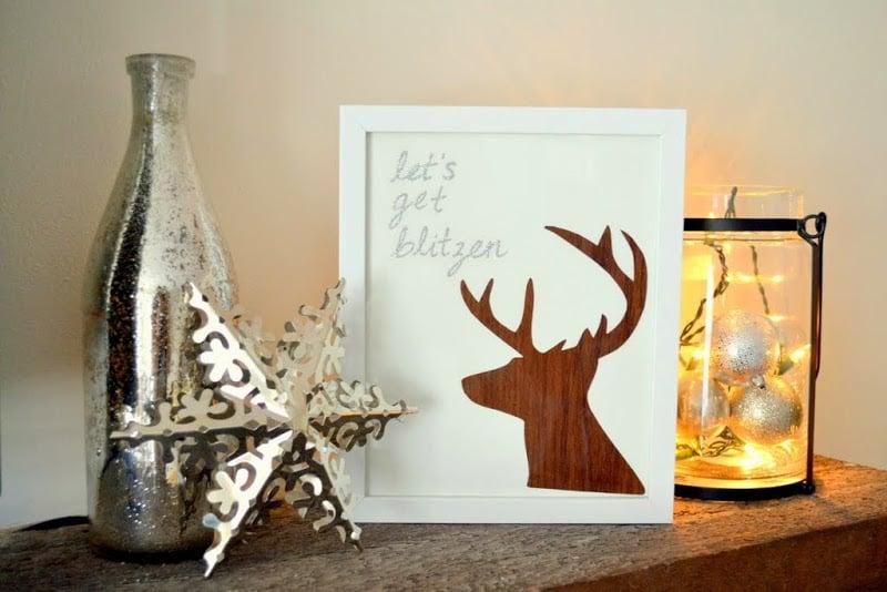 Let's Get Blitzen - Christmas DIY Reindeer Art 2