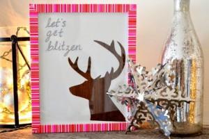 Let's Get Blitzen - Christmas DIY Reindeer Art 3