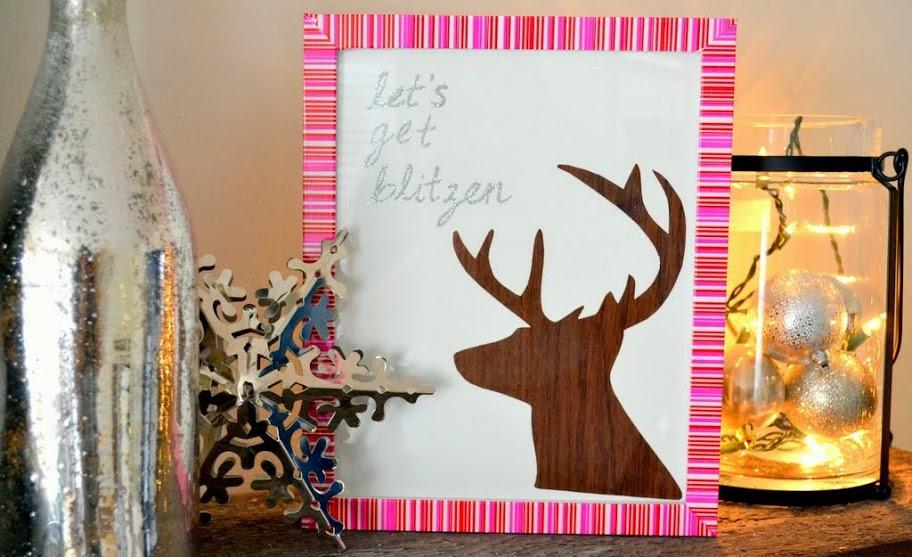 Let's Get Blitzen - Christmas DIY Reindeer Art 4