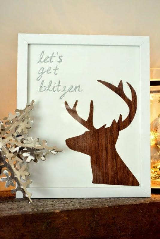 Let's Get Blitzen - Christmas DIY Reindeer Art 6