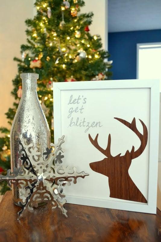 Let's Get Blitzen - Christmas DIY Reindeer Art
