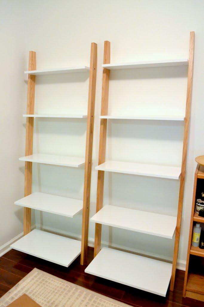 leaning bookshelves - udh