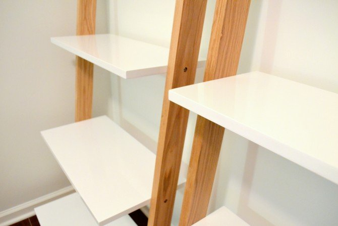 leaning bookcase - udh