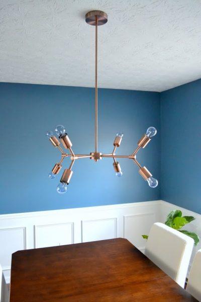 copper dining room light