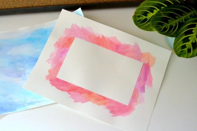 DIY watercolor border