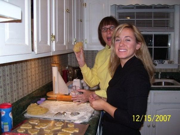 Moms kitchen baking cookies 2007