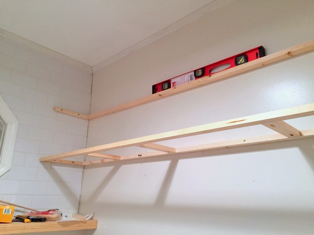 How to install floating shelves on a tile wall using wall anchors save dailygadgetfo Choice Image