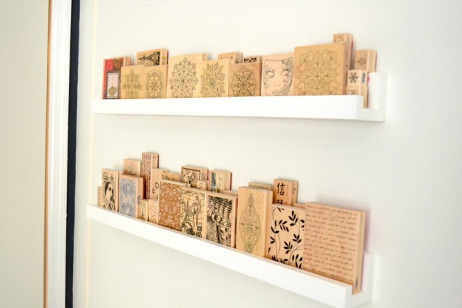 wood stamp collection