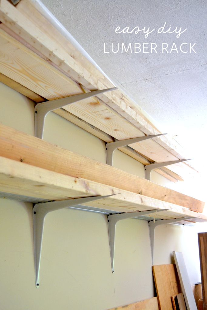 Cheap And Easy Diy Lumber Rack The Ugly Duckling House