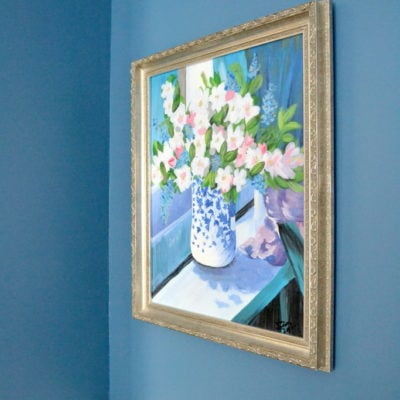 An Nifty Trick for Hanging Art with Ease