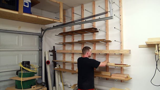 cheap garage cabinet ideas - Cheap and Easy DIY Lumber Rack – The Ugly Duckling House