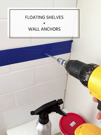 how to drill through tile and install wall anchors
