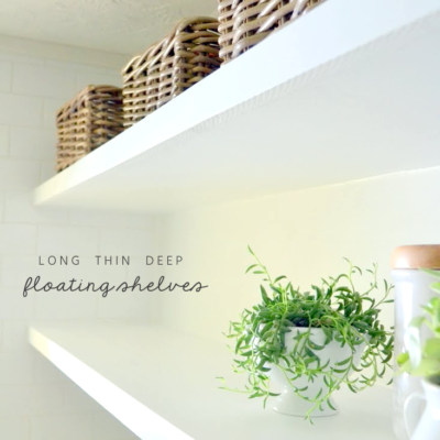 How to Create Long, Deep, & Thin Floating Shelves