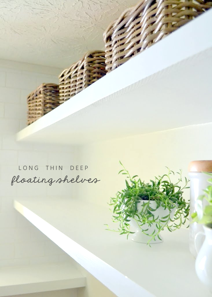 thin and sturdy floating laundry shelves - Finally! How To Create Long, Deep Shelves That Aren't Bulky