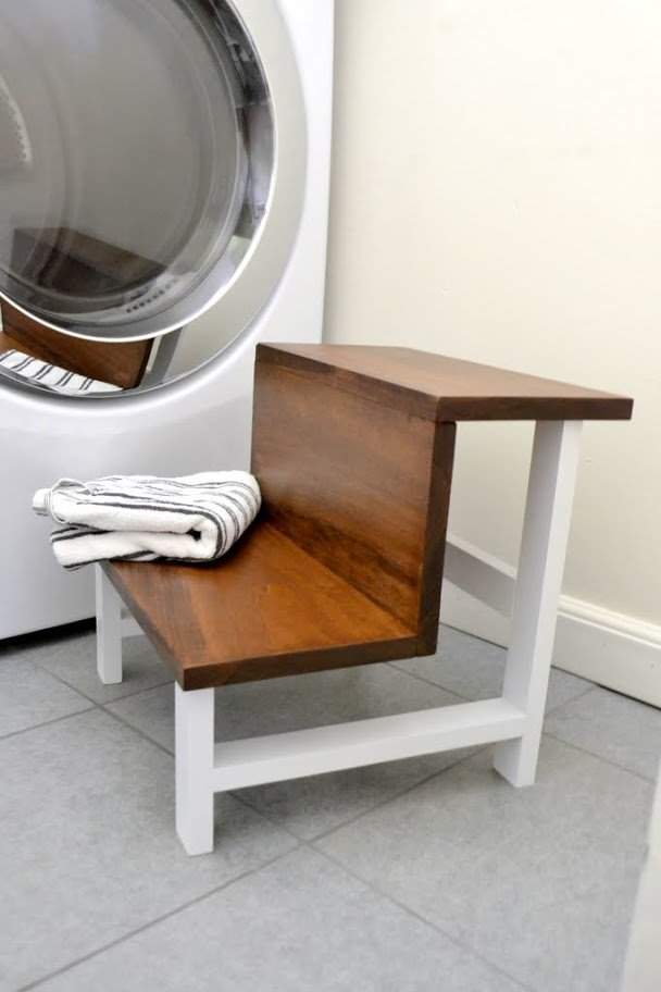 Lovely Build It Blog Hop One Board Challenge: Modern Step Stool • Ugly  RA43
