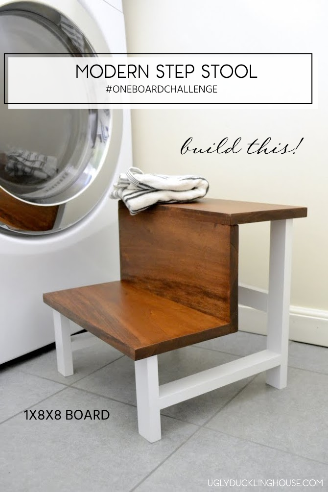 Build It Blog Hop One Board Challenge Modern Step Stool