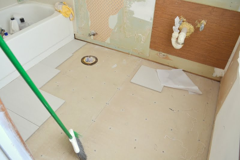 before master bathroom floor