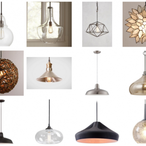 Breakfast Area Lighting Options (& Mini Mood Board)