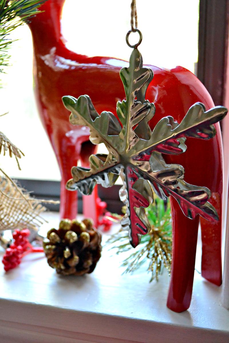 christmas kitchen window snowflake ornament