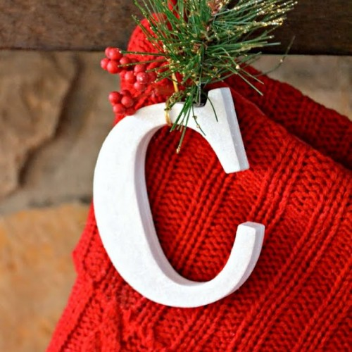 DIY Christmas Stocking Initials