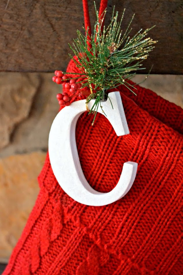 Diy Christmas Stocking Initials The Ugly Duckling House