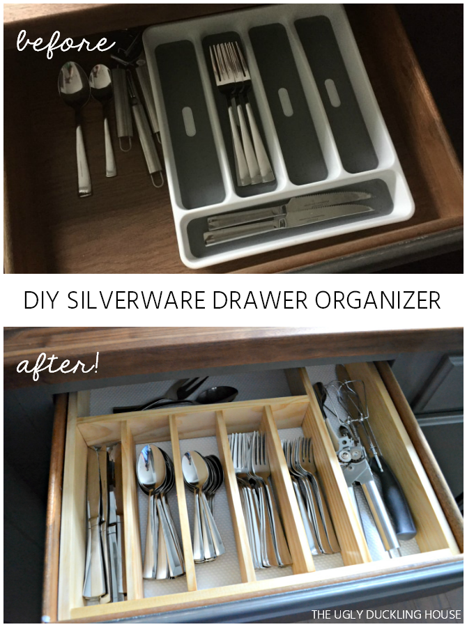 diy silverware drawer organizer