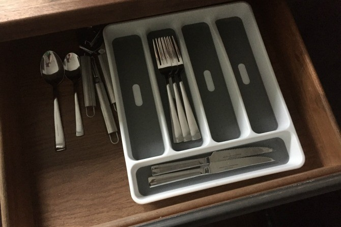 old drawer organizer