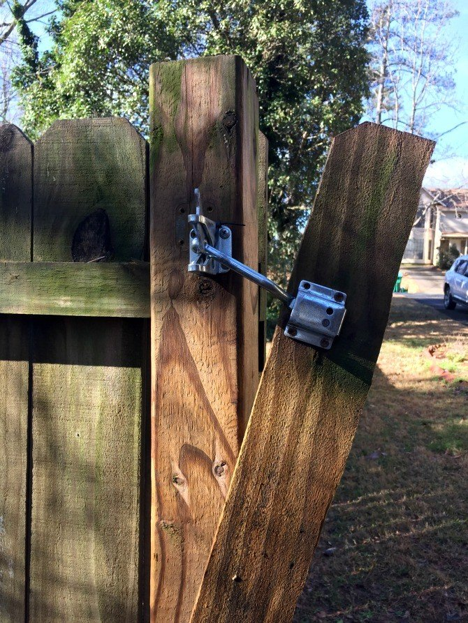 broken fence latch