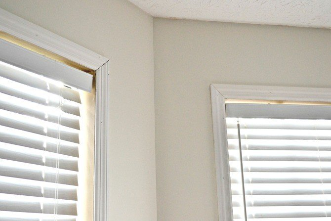 closeup window trim