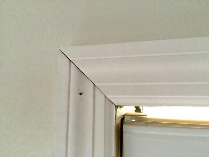 tight corner window casing