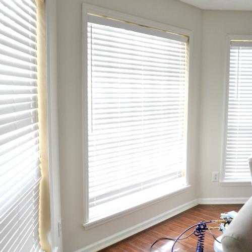 Adding Trim to the Living Room Windows