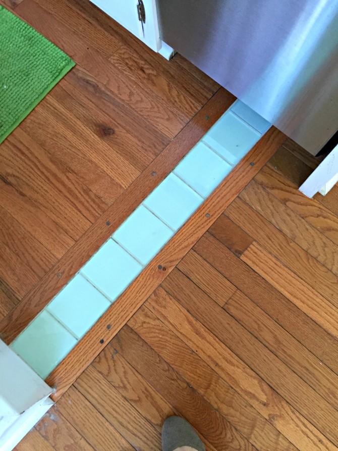 Airbnb Savannah kitchen floor