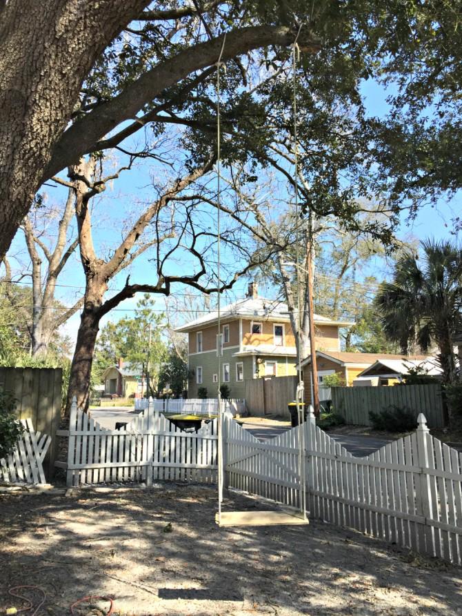 Airbnb Savannah swing