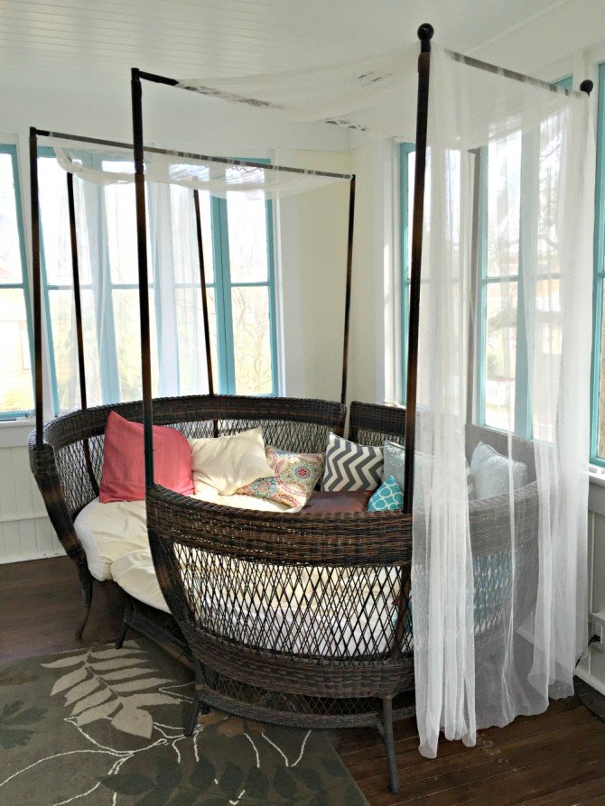 Airbnb porch bed