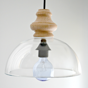 DIY Glass Pendant Light Fixture (Knockoff)