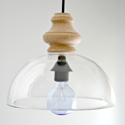 DIY Glass Pendant Light Fixture (Knockoff)