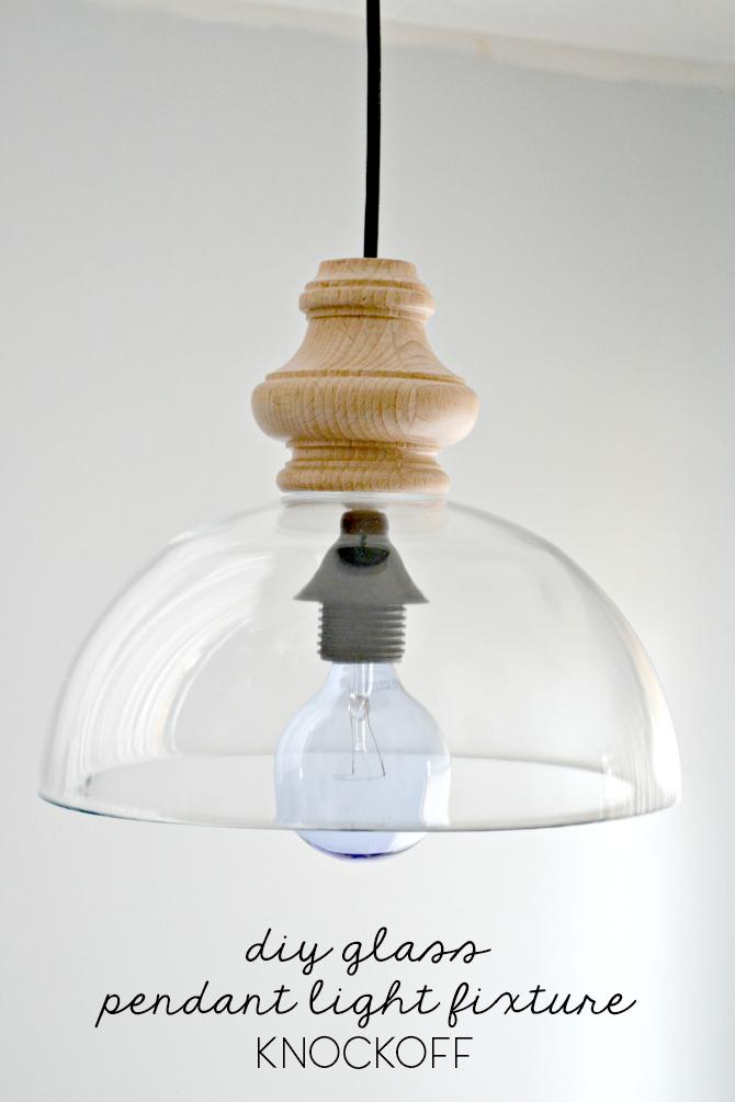 Diy glass pendant light fixture knockoff the ugly duckling house - Diy pendant light fixture ...