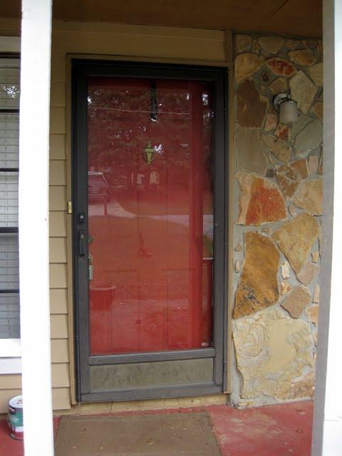 Old Front Door Look With Old Storm Door