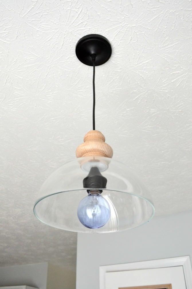 diy glass light pendant