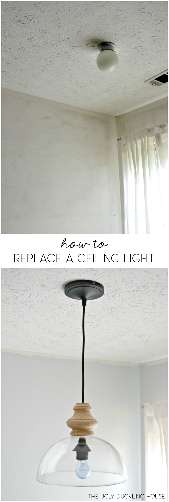 How to replace overhead light fixtures with ease how to replace a ceiling light fixture arubaitofo Image collections