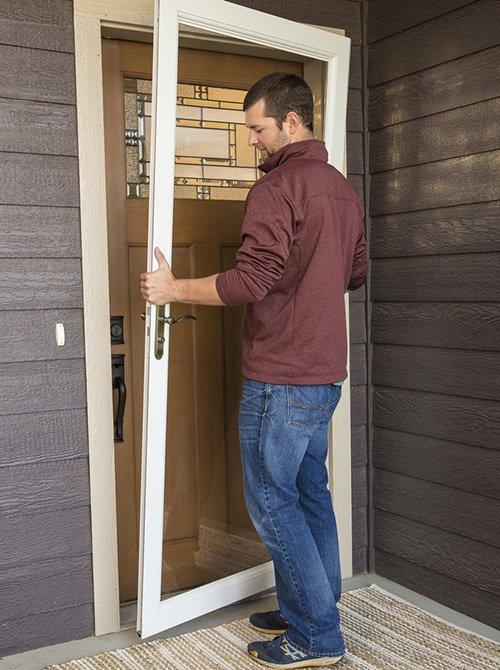 Storm door giveaway the ugly duckling house for Front door installation