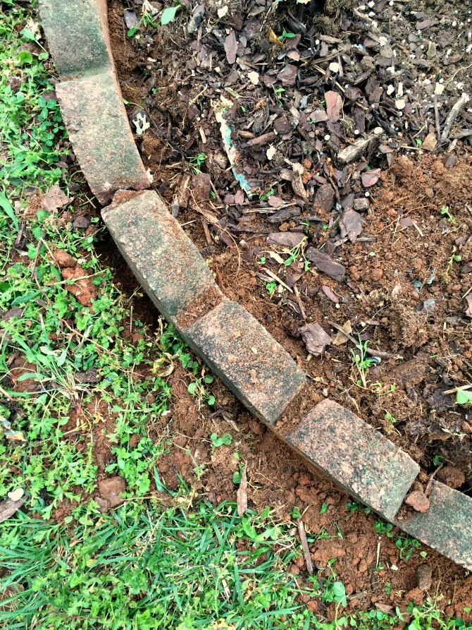 Making changes to the mailbox garden bed the ugly for Things made from soil