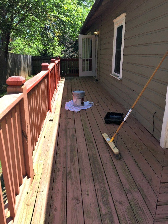 deck stain before first coat
