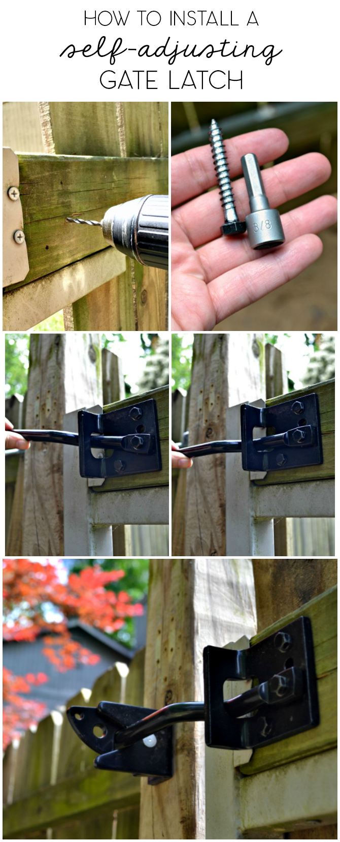 how to install an adjustable arm gate latch