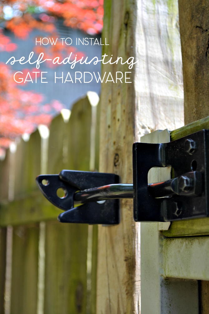how to install automatic adjusting gate hardware