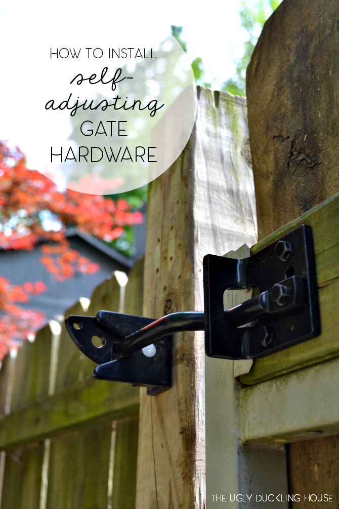how to install self adjusting gate hardware